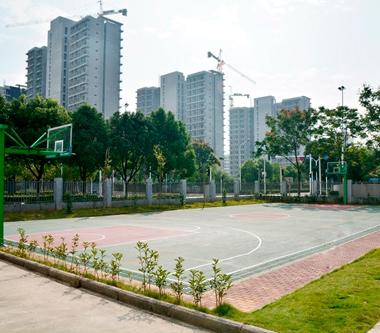 篮球场环境